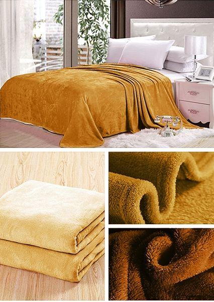 Luxusní deka v medové barvě
