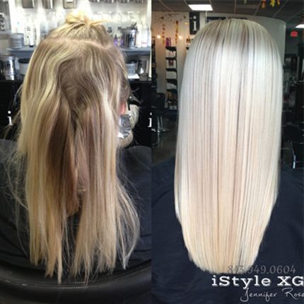 Behind The Chair - Look at the before and after on this perfect blonde hair!