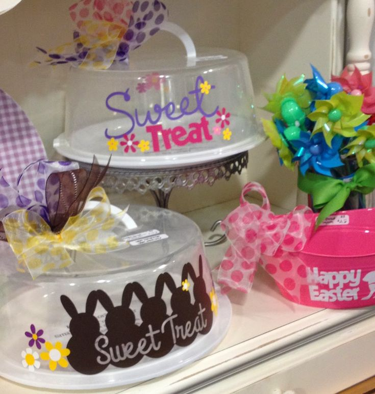 Personalized Cake Carrier - Spring & Easter Cake Carriers - TDY Designs