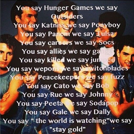 Famous Quotes From The Outsiders Movie: 36 Best The Outsiders Images On Pinterest
