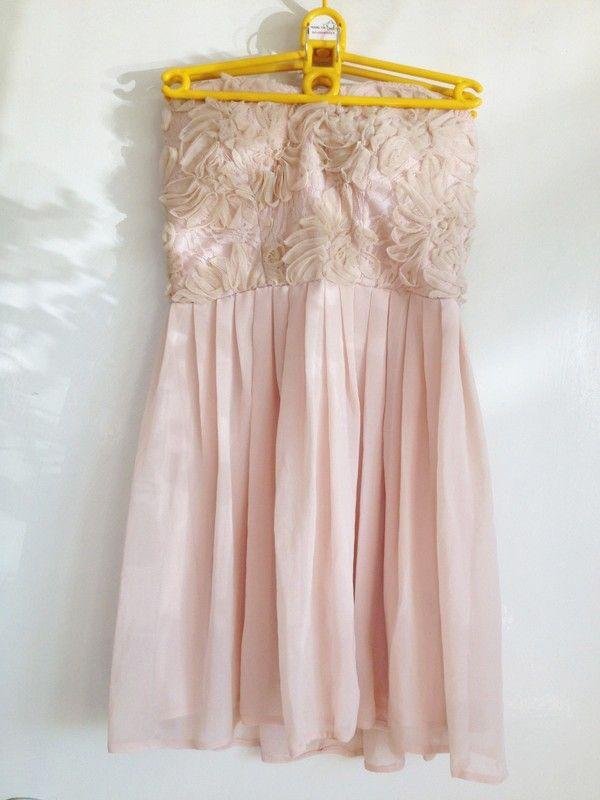 Pudrowy Pastelowy Roz Tiul Rozkloszowana Sukienka Wieczorowa Koktajlowa M 38 Dresses Flower Girl Dresses Fashion