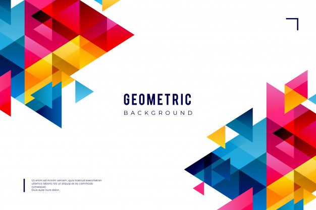 Download Geometric Background With Colorful Shapes For Free Geometric Background Graphic Design Background Templates Background Design Vector