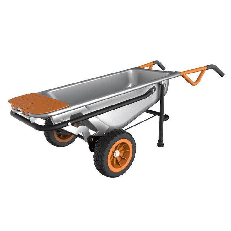WG050 WORX AeroCart: 8 In 1 Multi Function WheelBarrow Yard Cart