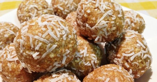 Coconut and lime protein balls, raw and vegan friendly...yum!