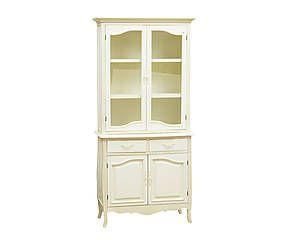 Credenza in legno con vetrinetta Sophie - 90x190x40 cm