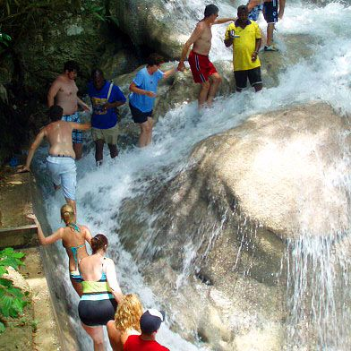 Jamaica. Dunns River Falls Tours. Ocho Rios. Best trips shore excursions to do attractions to dunns dunn river from Montego Bay Ocho Rios Falmouth