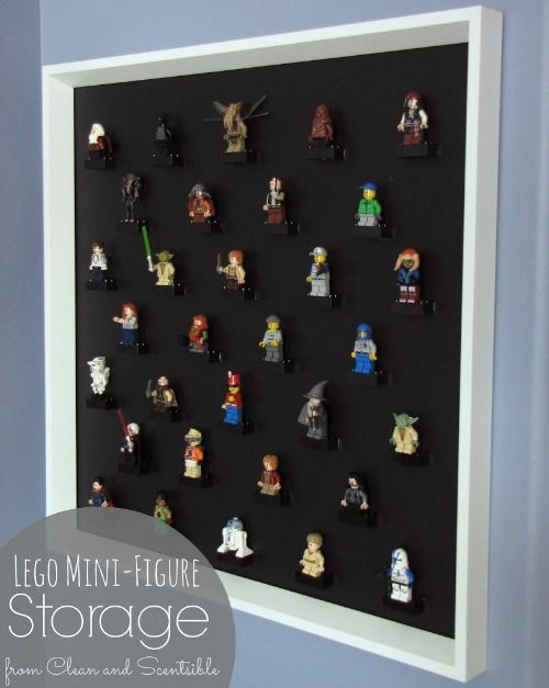 Awesome Lego Mini Figure storage ideas.