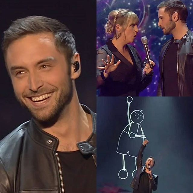 Måns tonight during Eurovision, You decide on BBC 4! It was an amazing performance and happy to have MP back with you! #månszelmerlöw #manszelmerlow #Heroes #Eurovision  Credits  @manszelmerlow_international