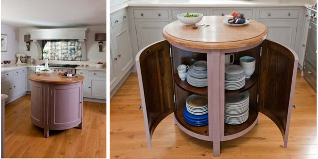 Here Are Some Odd Kitchen Islands That Are Rounded. Why?: Small, Circular, Movable Kitchen Island/Table
