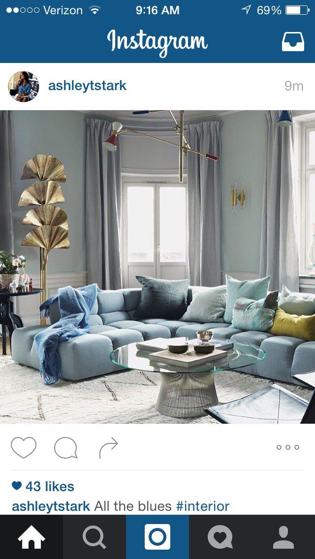 living room in blue%0A Beautiful  Room Interior DesignLiving