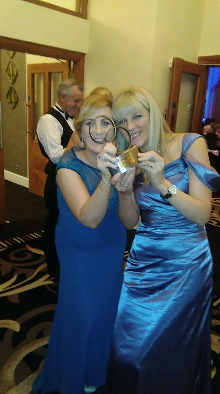 Karina Duffy (Weddings & Events Manager) and Mairead Melody (Sales & Marketing Manager) of Clayton Hotel Galway celebrating winning the prestigious award of Wedding Hotel Venue of the Year 2016 at the WeddingsOnline Awards.