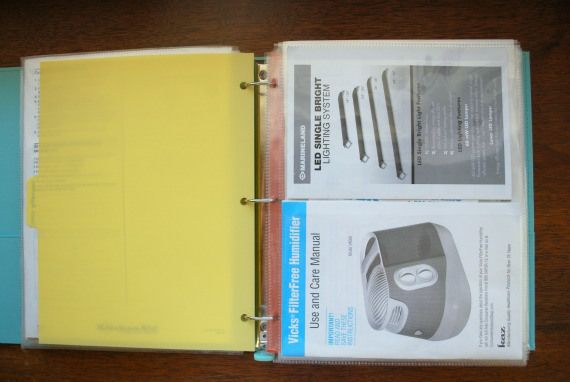 protectors with two pockets to a page!! How to Organize Instruction Manuals