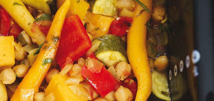 Couscous de légumes et pois chiches à la mijoteuse Recettes | Ricardo