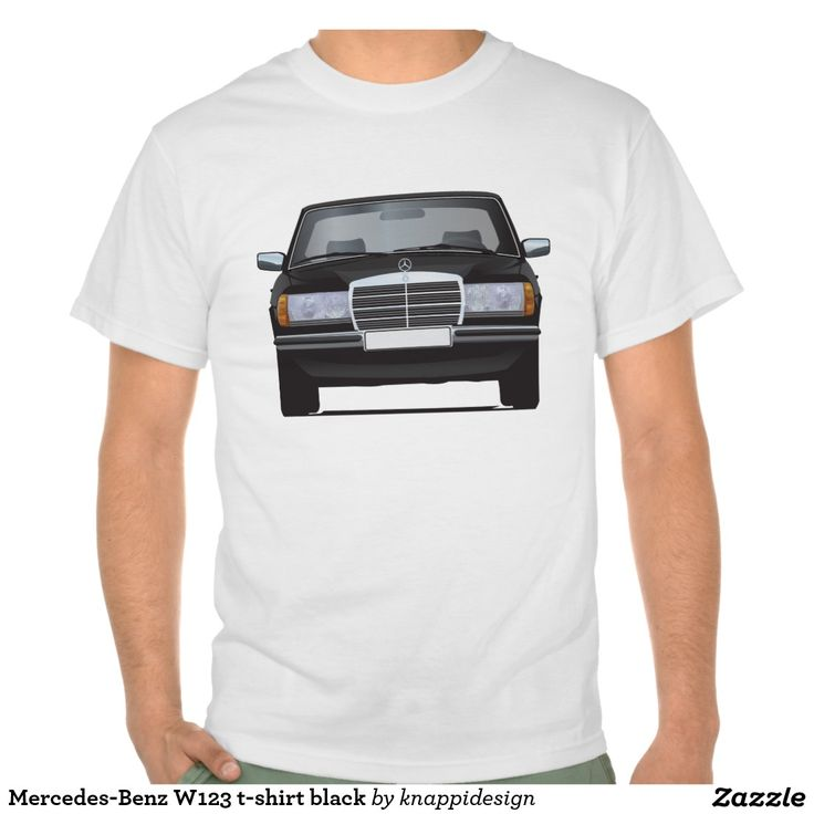 Mercedes-Benz W123 t-shirt black  #mercedesbenz #mercedes #mercedes-benz #123 #tshirt #tshirts #tpaita #troja #germany #classics #zazzle