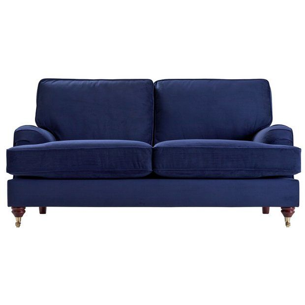 buy heart of house abberton 3 seater sofa navy velvet at argos co rh pinterest com