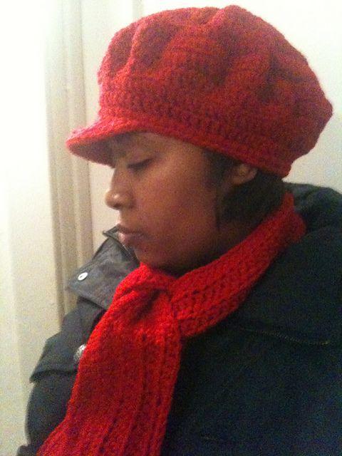 Cable Knit Newsboy Hat Pattern Lock