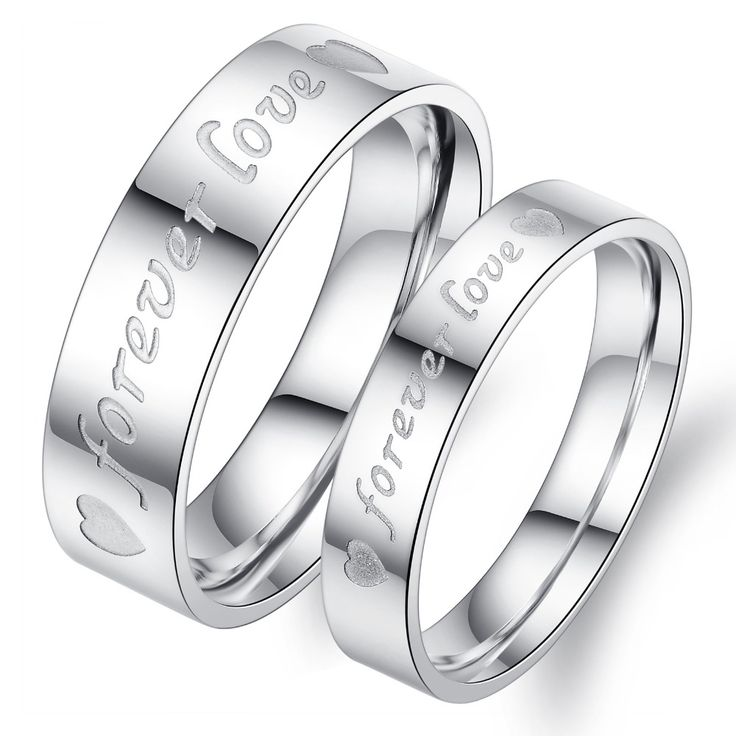 Anillos par de acero inoxidable de titanio hombres mujeres 316L Forever Love Promise Ring Lovers Wedding Rings Rc-0013