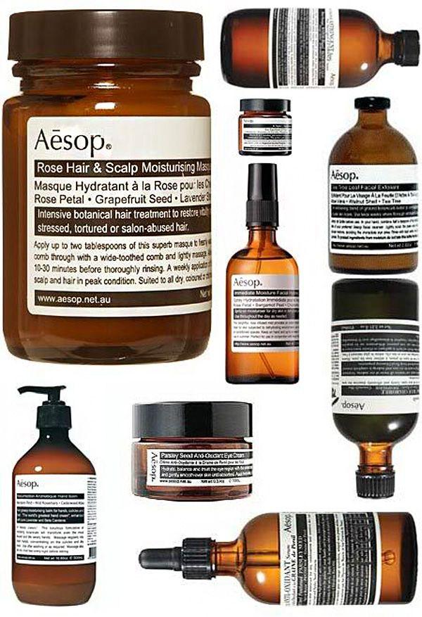 I love Aesop cosmetics.