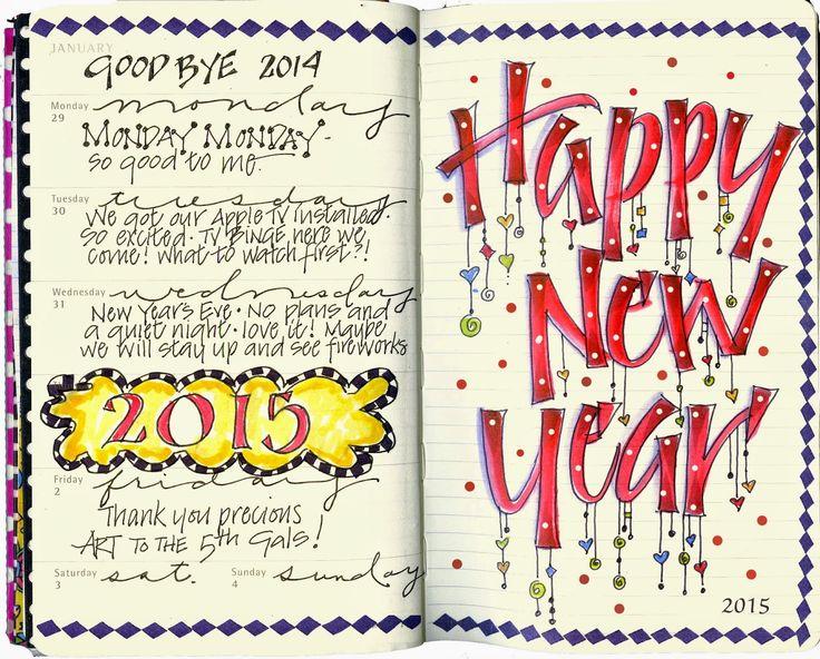 Art du Jour by Martha Lever: Happy New Year!