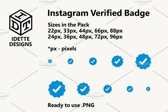 Instagram Verified Badge Web Design Icon Webpage Design Business Card Logo