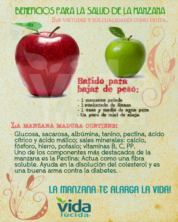 Beneficios para la salud que aporta la manzana: Ver más recetas en http://www.lavidalucida.com/search/label/Batidos