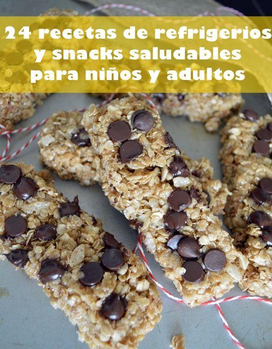 24 recetas de refrigerios y snacks saludables para niños y adultos www.pizcadesabor.com