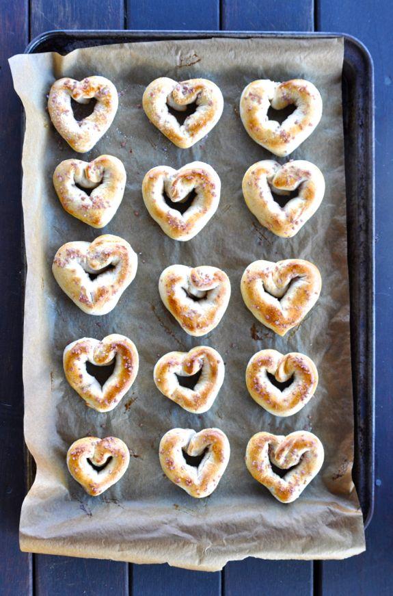 heart pretzels valentines day