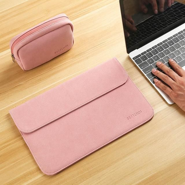 "New Laptop Case Sleeve for Xiaomi Air 12 13 inch Matte Leather Case for Xiaomi mi Notebook Air 12.5 13.3"" Cover Bags"