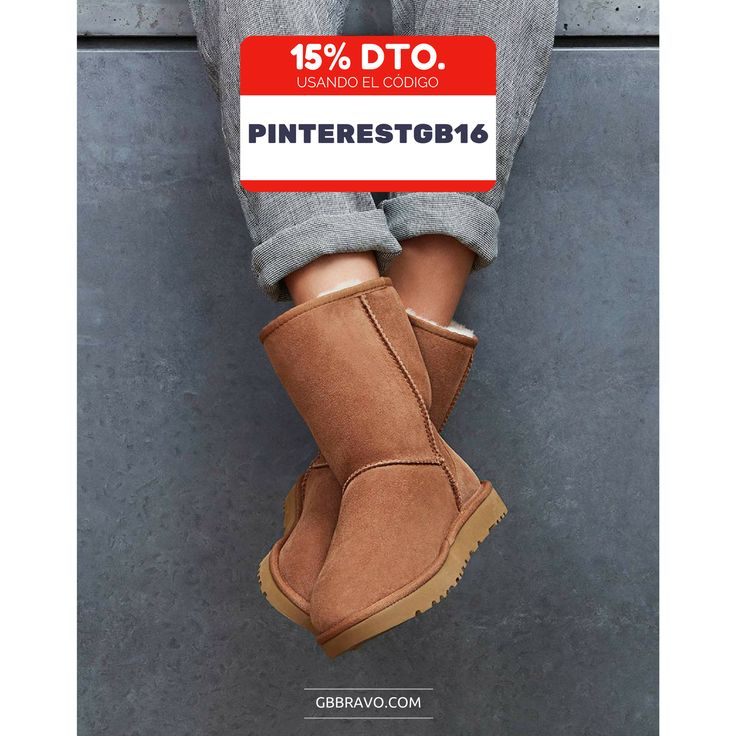 Disfruta del 15% Dto. en nuestra selección de botas y botines.  Usa el código ➡ PINTERESTGB16 y empieza a equiparte para el frio.👍 Para vosotr@s los seguidores!  #moda #ugg #zapatos #botines #botas #ofertas