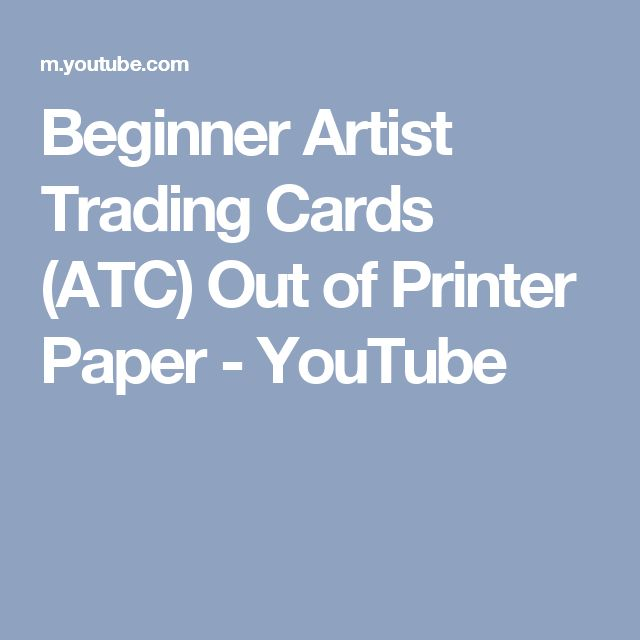 Beginner Artist Trading Cards (ATC) Out of Printer Paper - YouTube