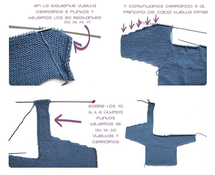 Cómo hacer una Chaqueta De Bebé a Dos Agujas -DIY- | Crochet ...
