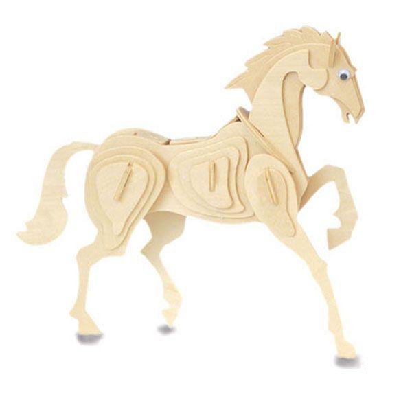 Dierendag knutselen: FSC houten bouwpakket paard