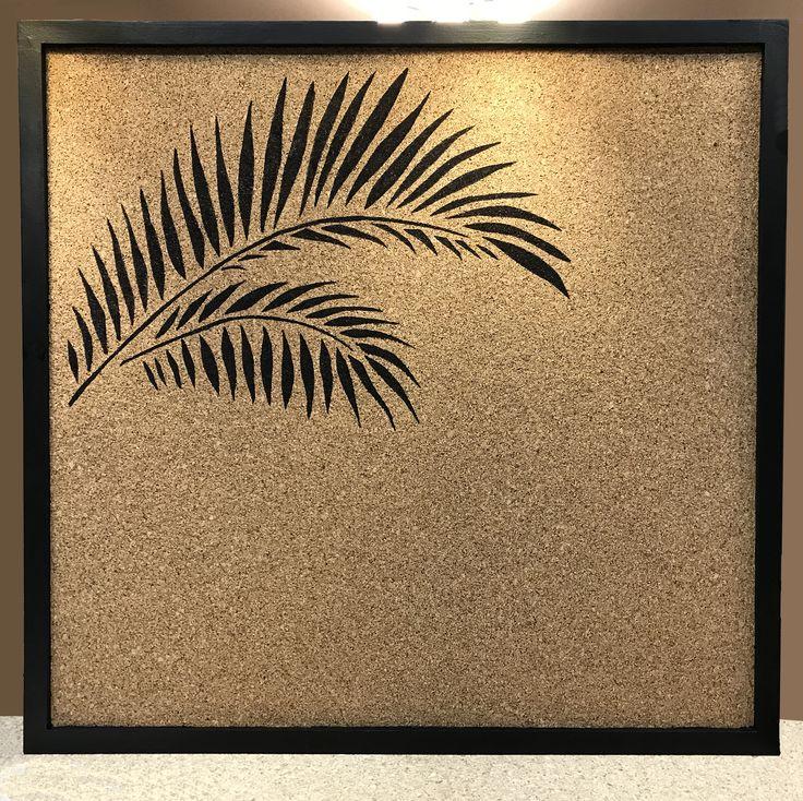 Пробковая доска для заметок с рисунком / Cork board with picture. Size: 60х60 cm. Рама / Frame: МДФ / MDF. Price: $36 #пробковаядоска #пробковыедоски #corkboard #handmade #доскадлязаметок