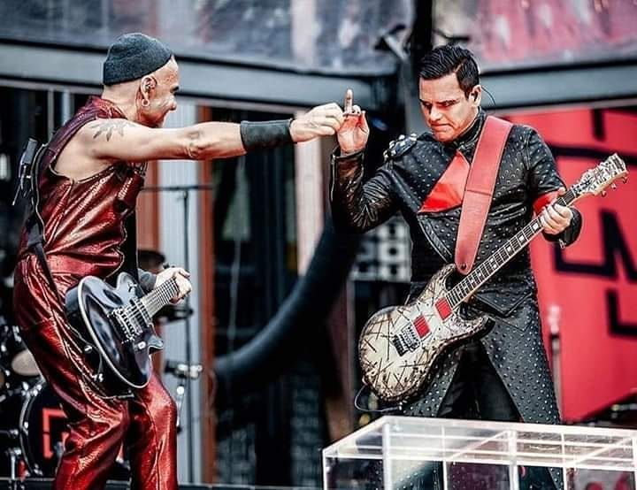 "Rammstein on Instagram: ""Paul and Richard 🔥 #rammstein #rammsteinfans #europestadiumtour2019 #tilllindemann #lindemann #flakelorenz #christophschneider…"""