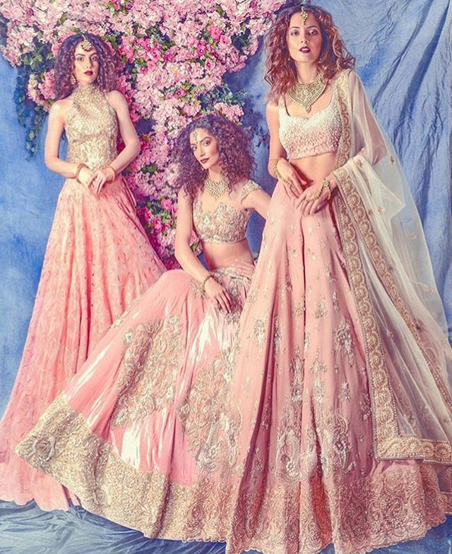 We Loved @ektasolanki new bridal collection!  Photo by @omjphotography  Makeup and hair by @ginibhogal #bride #wedding #indianwedding #love #happiness #smile #weddingplz #royal  #photooftheday #instabride #oots #makeup #yoursinweddings #instaweddings  #makeupartist #instamood  #jewellery #lehenga #royal