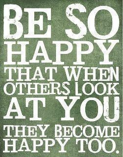 The first step to show others you are happy... a big beautiful smile!