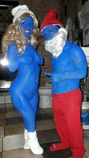 smurf girl naked cosplay