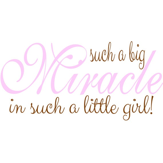Such A Big Miracle In Such A Little Girl Nursery Wall