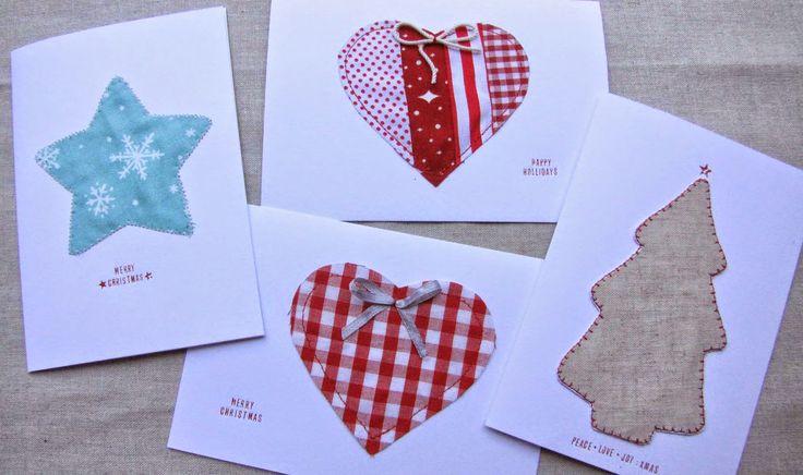 Sewing Sophia: DIY Fabric Christmas Cards