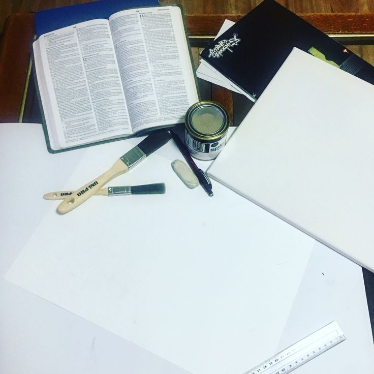 Sketching, painting and scripture combined