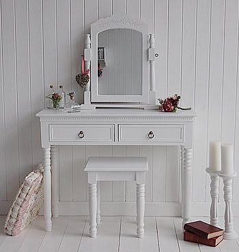 New England White Dressing Table