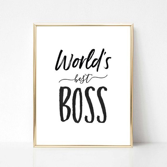 World's Best Boss Digital Print Best Boss Quote Gift