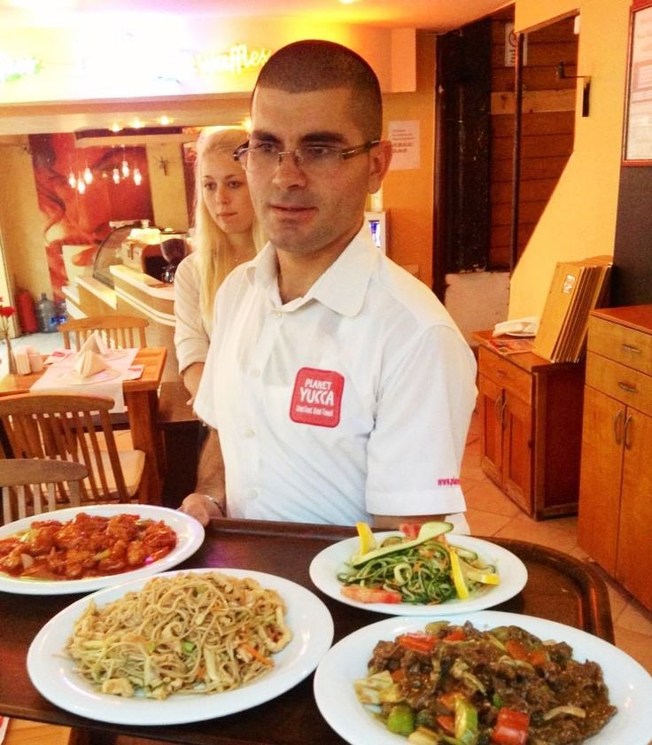 good food served up by one of the team, Ali :)