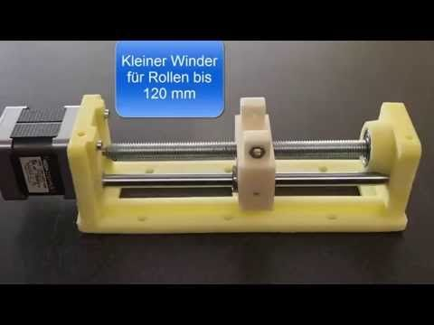 (3) Filament Extruder mit Winder und Aufwickelvorrichtung - YouTube