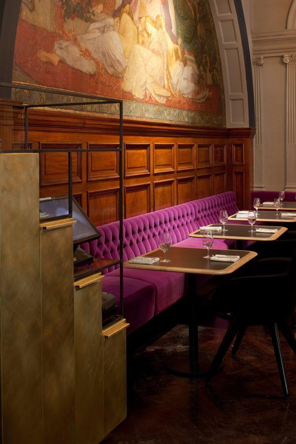 Restaurante de Tom Dixon en la Royal Academy: el arte se escapa del museo. #color #combo