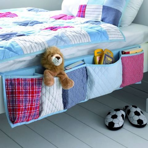 Bedside Pocket Organiser in Blue - Casafina