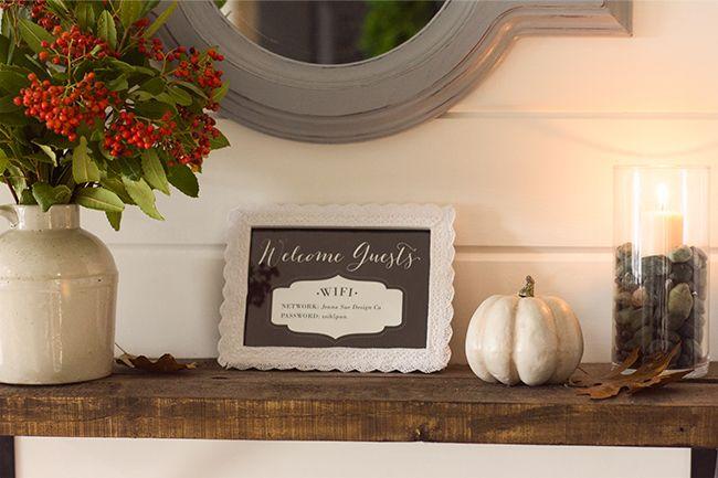 Fall Front Porch, Foyer & Free Printable | Jenna Sue Design Blog