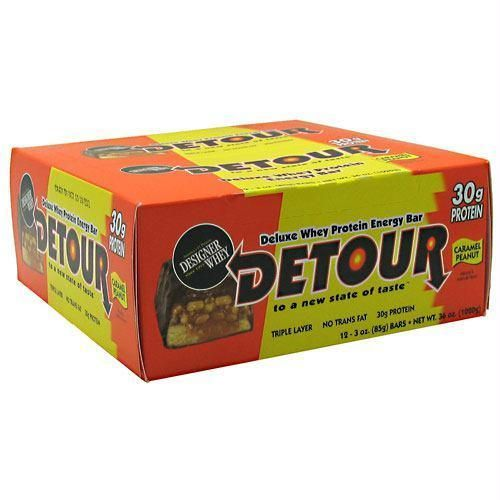 Forward Foods Detour Deluxe Whey Protein Energy Bar Caramel Peanut