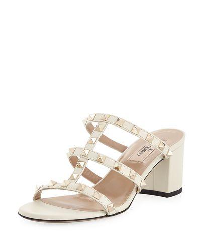cd541811e058 VALENTINO ROCKSTUD CAGED 60MM SLIDE SANDAL.  valentino  shoes ...