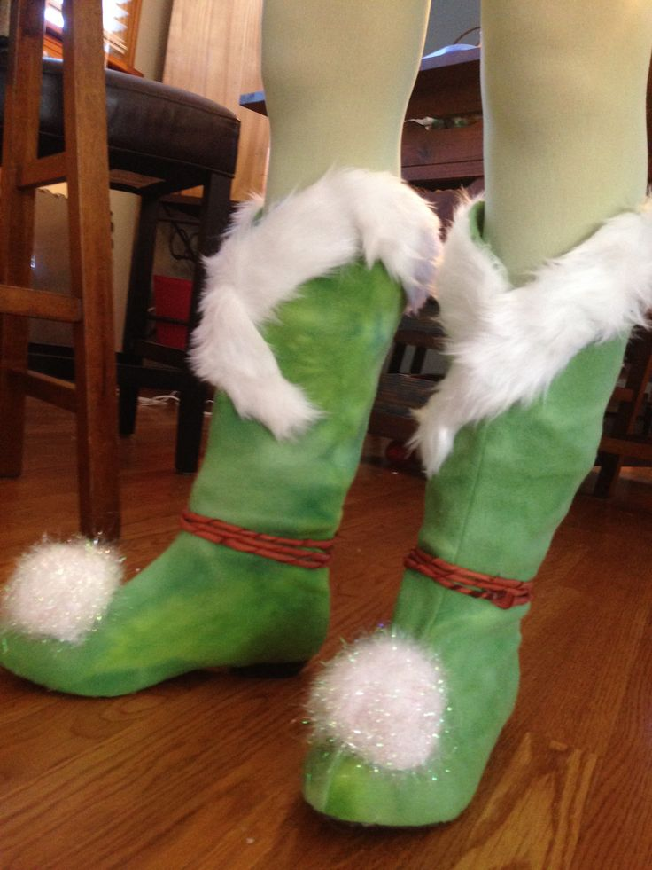 DIY Tinkerbell Winter Boots